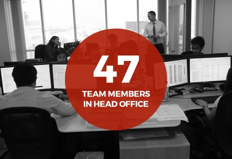 47 team members in the head office image