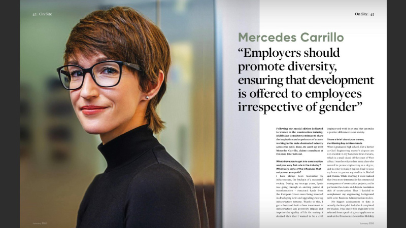 Mercedes Carrillo's feature in Women In Construction.